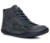 Herren Schuhe Stiefelette Leder blau