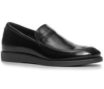 Herren Schuhe Loafer, Glattleder, schwarz