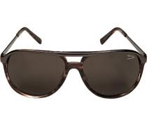 Herren Brillen Sonnenbrille Metall-Kunststoff grau-grau