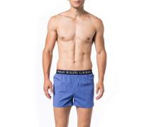 Herren Unterwäsche Boxershorts, Baumwolle, blau gepunktet