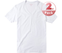 Herren T-Shirts Shaped Fit Baumwoll-Stretch