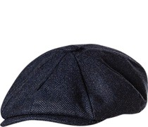 Schirmmütze Wolle wattiert navy meliert