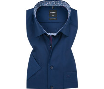 Herren Hemd, Modern Fit, Popeline, navy blau
