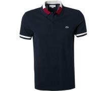 Polo-Shirt Slim Fit Baumwoll-Piqué navy