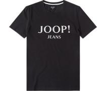 Herren T-Shirt Modern Fit Baumwolle schwarz
