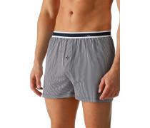 Herren Unterwäsche Boxershorts, Baumwoll-Stretch, marineblau-weiß gestreift