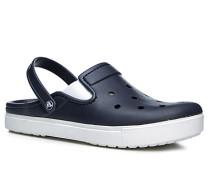 Herren Schuhe Pantoletten, Gummi, navy blau