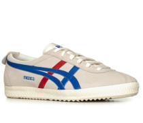 Herren Schuhe Sneaker Veloursleder perlmutt-rot-blau