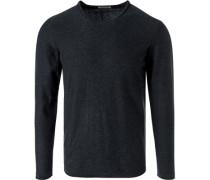 Pullover Baumwolle anthrazit meliert