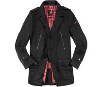 Herren strellson Sportswear Mantel Atrix-W Baumwolle schwarz