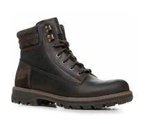 Herren Schuhe Schnürstiefeletten Leder GORE-TEX®- schokobraun braun,weiß