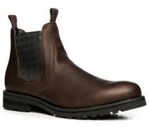 Herren Schuhe Chelsea Boots Leder dunkelbraun