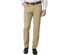 Herren Jeans, Regular Fit, Baumwoll-Stretch, beige