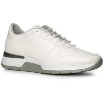 Herren Schuhe Sneaker Leder weiß weiß,grau