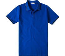 Herren Polo-Shirt Baumwoll-Piquè royal