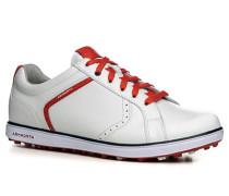 Herren Golfschuh Leder weiß