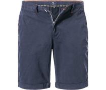 Herren Hose Bermudashorts Regular Fit Baumwolle navy blau