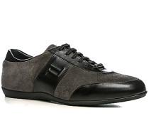 Herren Schuhe Sneaker Veloursleder dunkelgrau grau,schwarz