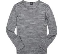 Pullover Baumwolle -weiß meliert