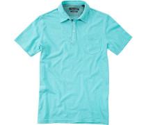 Herren Polo-Shirt Baumwoll-Jersey aqua