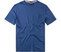 Herren T-Shirt Baumwoll-Mix nachtblau