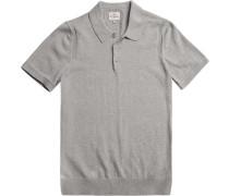 Herren Polo-Shirt, Modern Fit, Baumwolle, hellgrau meliert