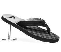Herren Schuhe Zehensandalen Textil schwarz-