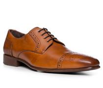 Herren Schuhe Oxford, Kalbleder, cognac cognac ton