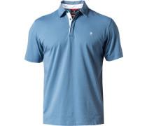 Herren Polo-Shirt Tailored Fit Baumwoll-Jersey tauben