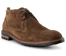 Schuhe Desert Boots Veloursleder dunkelcognac