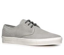 Herren Schuhe Sneaker, Veloursleder, hellgrau