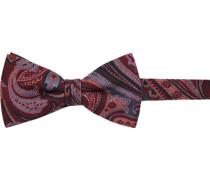 Krawatte Schleife Wolle dunkel gemustert