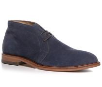 Herren Schuhe Desert Boots, Veloursleder, blau