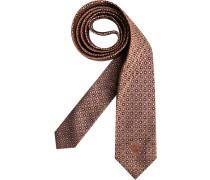 Herren Krawatte  braun,schwarz