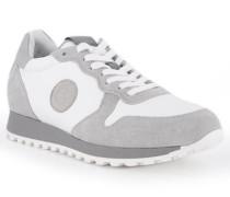 Schuhe Sneaker Leder grau-