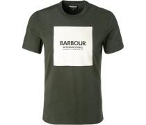 T-Shirt Slim Fit Baumwolle dunkel