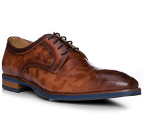 Schuhe Derby Leder marrone