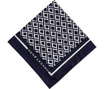 Herren Accessoires Einstecktuch, Baumwolle, marineblau gemustert
