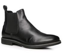 Herren Schuhe Chelsea-Boots Leder schwarz
