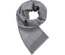 Herren Schal Seide grau gemustert