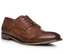 Schuhe Derby Leder testa di moro