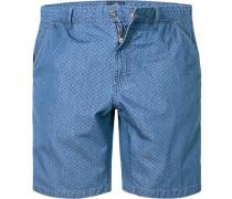 Herren Hose Shorts Baumwolle denim gemustert