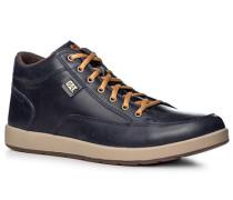 Herren Schuhe Schnürstiefeletten Leder navy blau,braun