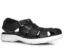 Herren Schuhe Sandalen Nappaleder schwarz