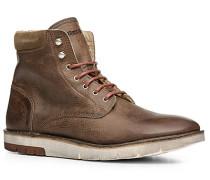 Herren Schuhe Stiefelette Kalbnappa warmgefüttert braun