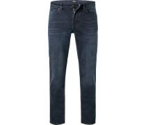 Jeans Regular Fit Baumwoll-Stretch T400 indigo