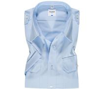 Herren Hemd, Comfort Fit, Popeline, bleu blau