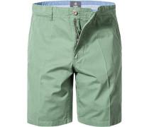 Herren Hose Bermudashorts, Baumwolle, grün