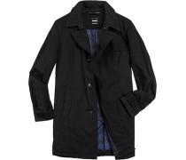 Herren strellson Premium Mantel Baumwoll-Mix wattiert schwarz schwarz,blau