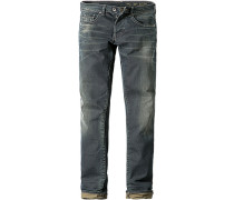 Herren Jeans Slim Fit Baumwoll-Stretch 9,5 oz jeansblau